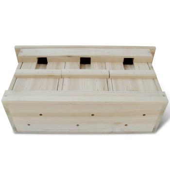 vidaXL Kućica za vrapce 2 kom drvena 44 x 15,5 x 21,5 cm