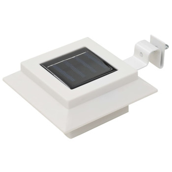 vidaXL Vrtne solarne svjetiljke 12 kom LED kvadratne 12 cm bijele