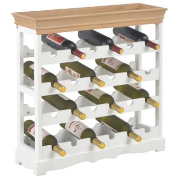 vidaXL Ormarić za vino bijeli 70 x 22,5 x 70,5 cm MDF