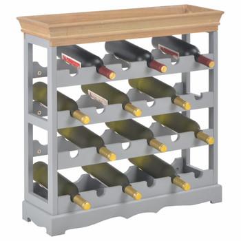 vidaXL Ormarić za vino sivi 70 x 22,5 x 70,5 cm MDF