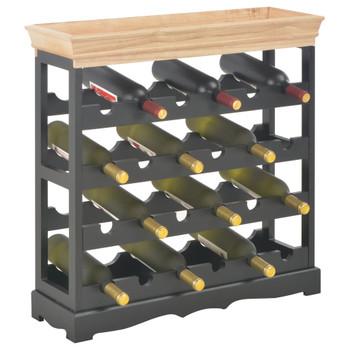 vidaXL Ormarić za vino crni 70 x 22,5 x 70,5 cm MDF