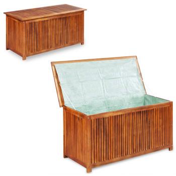 vidaXL Vrtna kutija za pohranu 150 x 50 x 58 cm masivno bagremovo drvo