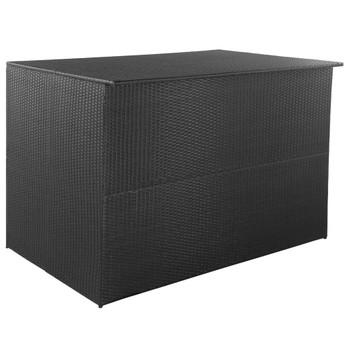 vidaXL Vrtna kutija za pohranu od poliratana crna 150 x 100 x 100 cm