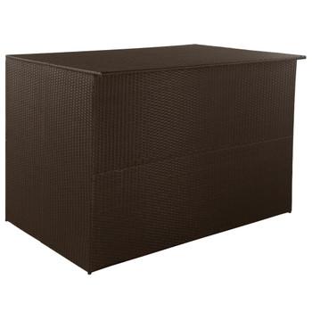 vidaXL Vrtna kutija za pohranu od poliratana smeđa 150 x 100 x 100 cm