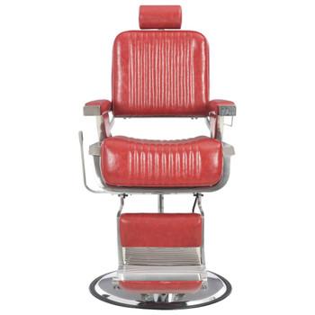 vidaXL Brijačka stolica od umjetne kože crvena 68 x 69 x 116 cm