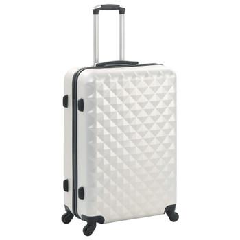 vidaXL 3-dijelni set čvrstih kovčega svjetlosrebrni ABS