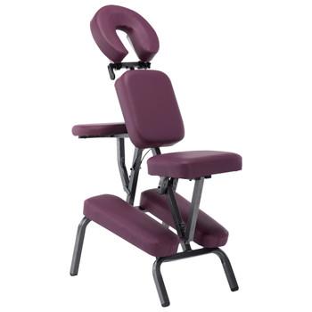 vidaXL Masažna stolica od umjetne kože boja burgundca 122 x 81 x 48 cm