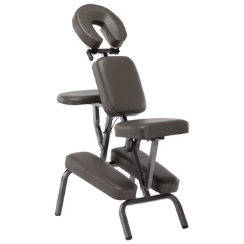 vidaXL Masažna stolica od umjetne kože antracit 122 x 81 x 48 cm