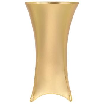 vidaXL Navlake za stol 2 kom rastezljive 60 cm zlatne