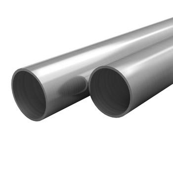vidaXL Cijevi od nehrđajućeg čelika 2 kom okrugle V2A 2m Ø 70 x 1,8 mm