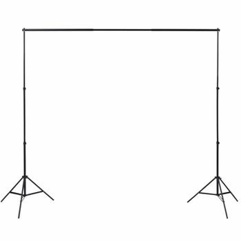 vidaXL Fotografska oprema s 3 pozadine i podesivim okvirom 3 x 3 m