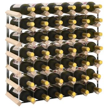 vidaXL Stalak za vino za 42 boce od masivne borovine