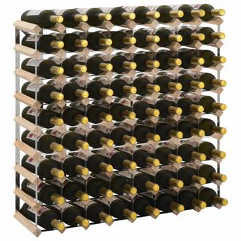 vidaXL Stalak za vino za 72 boce od masivne borovine