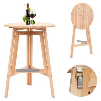 vidaXL Sklopivi barski stol od jelovine 78 cm