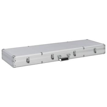 vidaXL Kutija za oružje srebrna 118 x 38 x 12 cm aluminijska