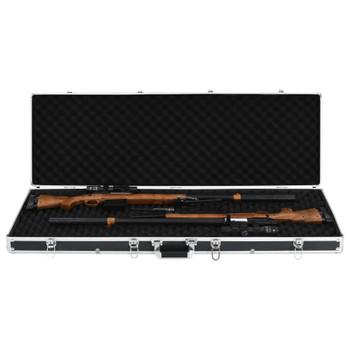 vidaXL Kutija za oružje crna 118 x 38 x 12 cm aluminijska