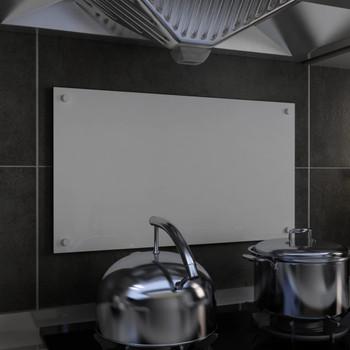 vidaXL Kuhinjska zaštita od prskanja bijela 70 x 40 cm kaljeno staklo