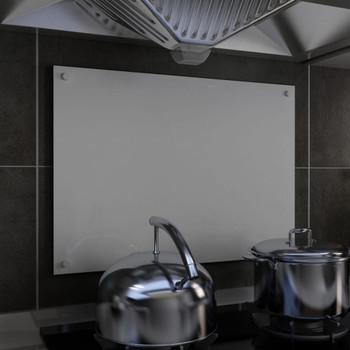 vidaXL Kuhinjska zaštita od prskanja bijela 70 x 50 cm kaljeno staklo