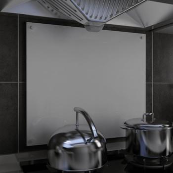 vidaXL Kuhinjska zaštita od prskanja bijela 70 x 60 cm kaljeno staklo