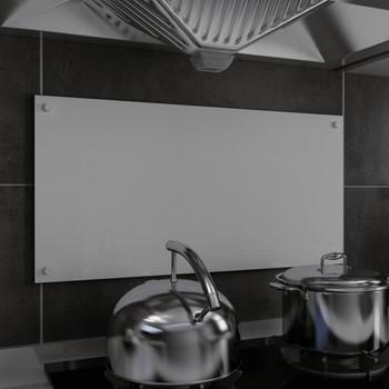 vidaXL Kuhinjska zaštita od prskanja bijela 80 x 40 cm kaljeno staklo