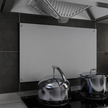 vidaXL Kuhinjska zaštita od prskanja bijela 80 x 50 cm kaljeno staklo