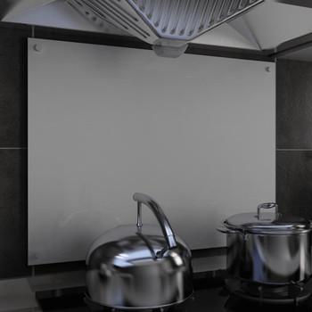 vidaXL Kuhinjska zaštita od prskanja bijela 80 x 60 cm kaljeno staklo
