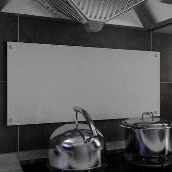 vidaXL Kuhinjska zaštita od prskanja bijela 90 x 40 cm kaljeno staklo