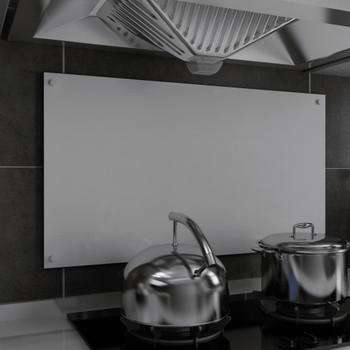 vidaXL Kuhinjska zaštita od prskanja bijela 90 x 50 cm kaljeno staklo