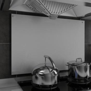 vidaXL Kuhinjska zaštita od prskanja bijela 90 x 60 cm kaljeno staklo