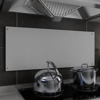 vidaXL Kuhinjska zaštita od prskanja bijela 100 x 40 cm kaljeno staklo