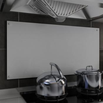 vidaXL Kuhinjska zaštita od prskanja bijela 100 x 50 cm kaljeno staklo