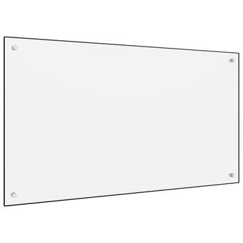 vidaXL Kuhinjska zaštita od prskanja bijela 100 x 60 cm kaljeno staklo
