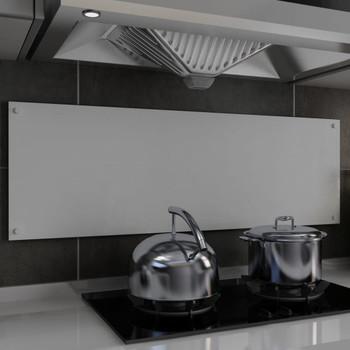 vidaXL Kuhinjska zaštita od prskanja bijela 120 x 40 cm kaljeno staklo