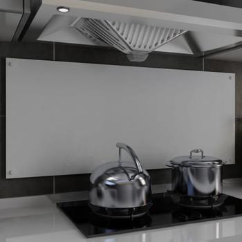 vidaXL Kuhinjska zaštita od prskanja bijela 120 x 50 cm kaljeno staklo