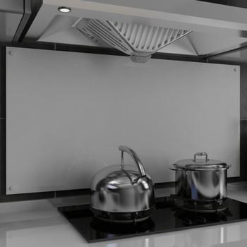 vidaXL Kuhinjska zaštita od prskanja bijela 120 x 60 cm kaljeno staklo