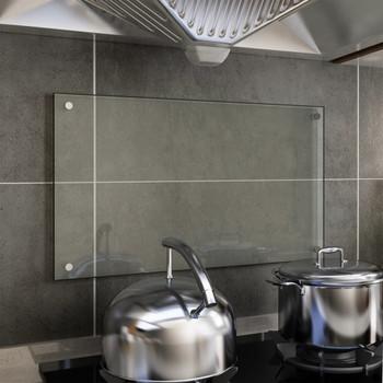 vidaXL Kuhinjska zaštita od prskanja prozirna 70x40 cm kaljeno staklo