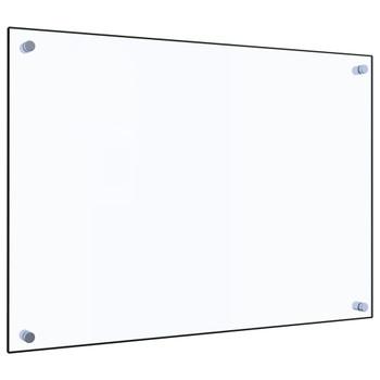 vidaXL Kuhinjska zaštita od prskanja prozirna 70x50 cm kaljeno staklo