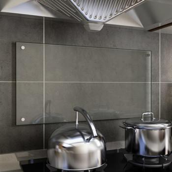 vidaXL Kuhinjska zaštita od prskanja prozirna 80x40 cm kaljeno staklo