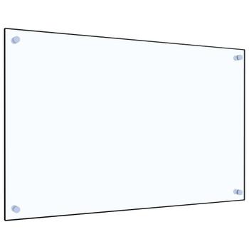 vidaXL Kuhinjska zaštita od prskanja prozirna 80x50 cm kaljeno staklo