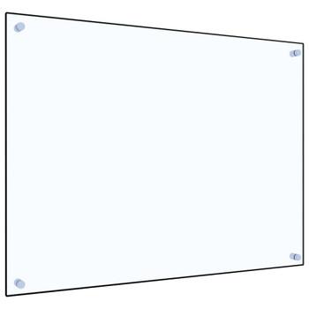 vidaXL Kuhinjska zaštita od prskanja prozirna 80x60 cm kaljeno staklo
