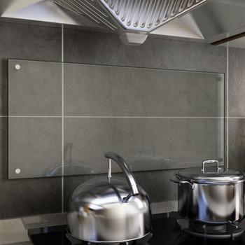 vidaXL Kuhinjska zaštita od prskanja prozirna 90x40 cm kaljeno staklo