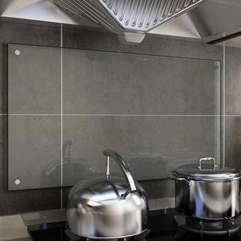 vidaXL Kuhinjska zaštita od prskanja prozirna 90x50 cm kaljeno staklo