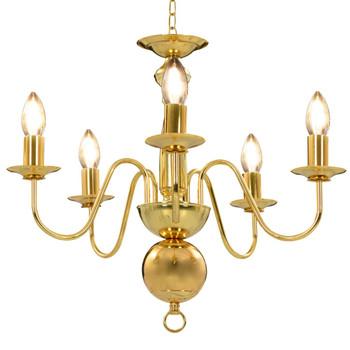 vidaXL Luster zlatni 5 žarulja E14