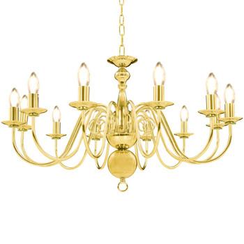 vidaXL Luster zlatni 12 žarulja E14