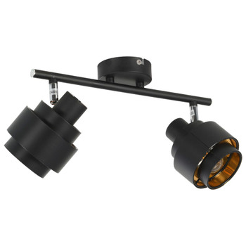 vidaXL Dvosmjerni reflektor crni E14