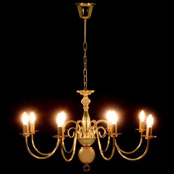 vidaXL Luster zlatni 8 žarulja E14
