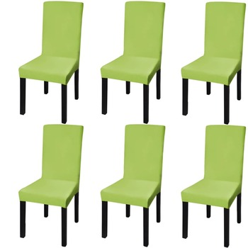 vidaXL Rastezljive navlake za stolice 6 kom Zelena boja