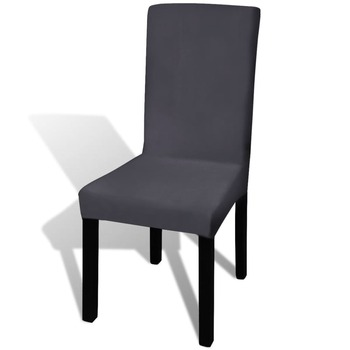 vidaXL Rastezljive navlake za stolice 4 kom Antracit boja