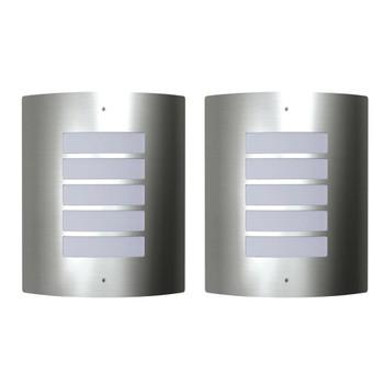 Dvije vodootporne zidne lampe od nehrđajućeg čelika 60 W