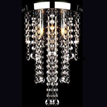Metalni luster s kristalnim perlama, bijeli